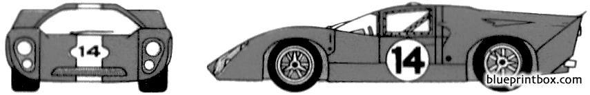 Lola T70 1970 - Blueprintbox Com