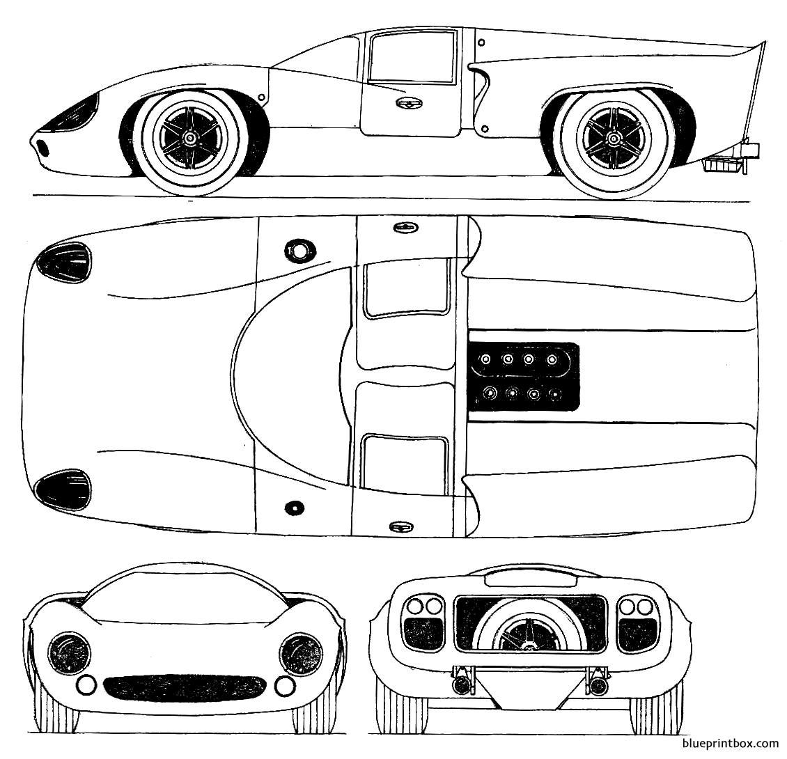 Lola T70 Mkiii 1969 Can Am - Blueprintbox Com
