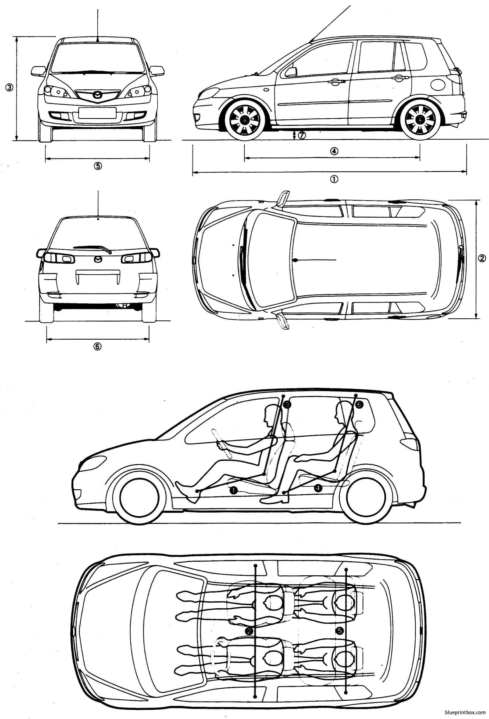 mazda 2 5 door hatchback 2003 2007