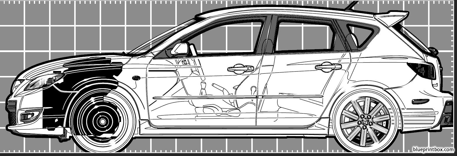 Mazda 3 Hatchback 2006 - Blueprintbox Com