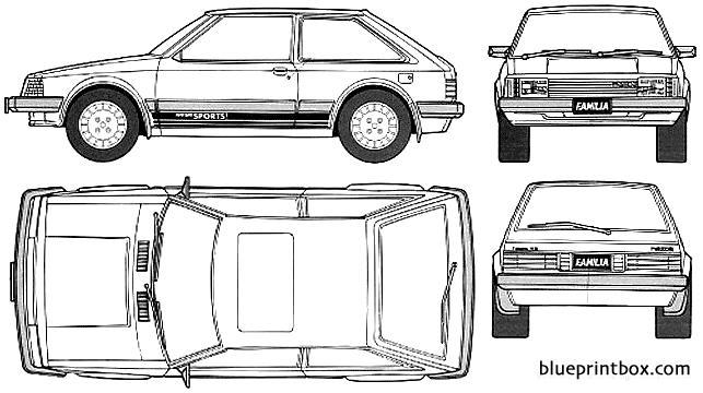 Mazda 323 Familia Xg 3 Door 1980 - Blueprintbox Com