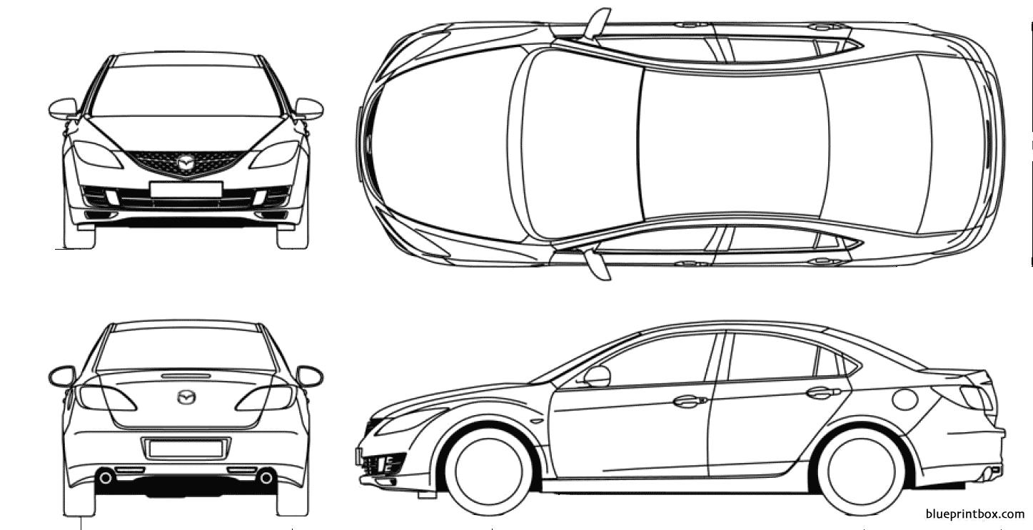 Mazda 6 2008 - Blueprintbox Com