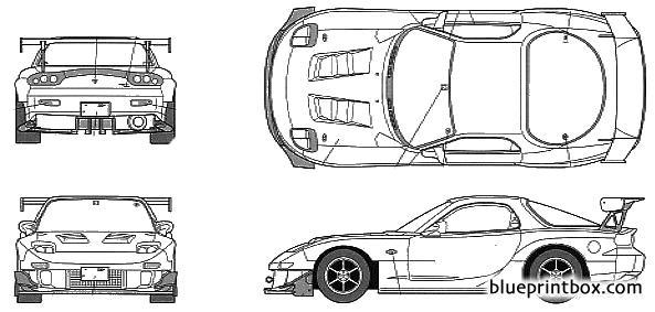 Mazda Fd3s Rx 7 Project D - Blueprintbox Com