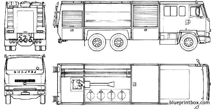 Leyland 300 Rosenbauer Fire Truck 1985