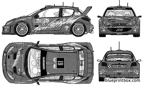 Bozian Racing Peugeot 206wrc Montecarlo 05
