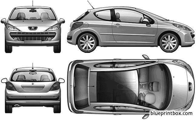 Peugeot 207 3 Door - Blueprintbox Com