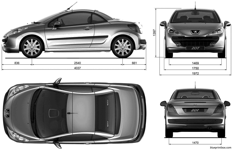 Peugeot 207cc 2007 - Blueprintbox Com