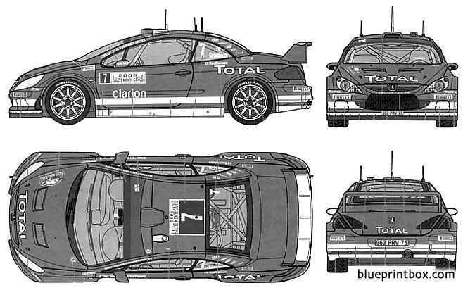 Peugeot 307 Wrc Monte Carlo - Blueprintbox Com