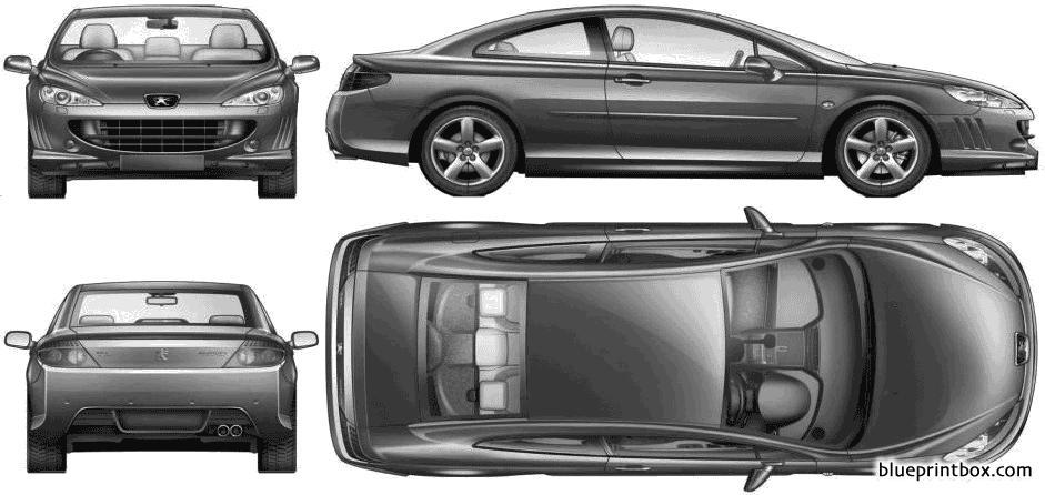 Peugeot 407 Coupe 2006 2 - Blueprintbox Com