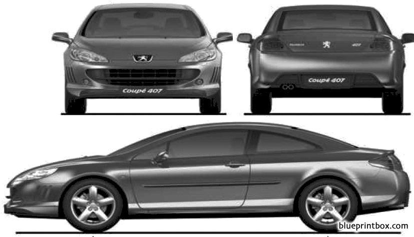 Peugeot 407 Coupe 2009 - Blueprintbox Com