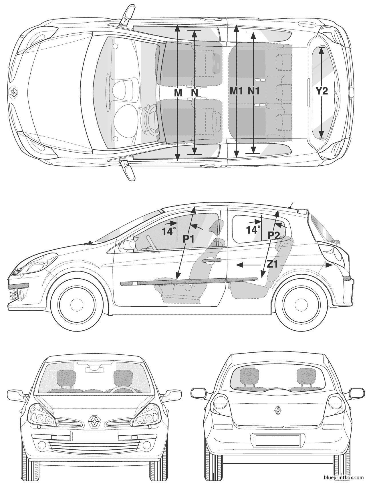 Renault Clio Iii 2006 - Blueprintbox Com