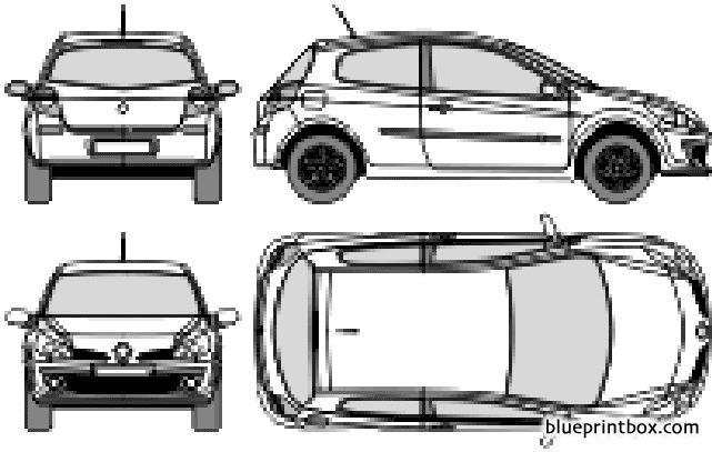 Renault Clio Iii 3 Door 2007 - Blueprintbox Com
