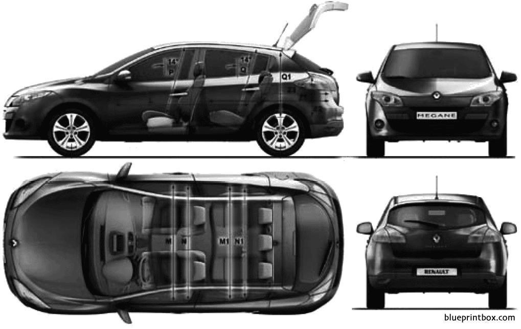 Renault Megane Hb 2010 - Blueprintbox Com