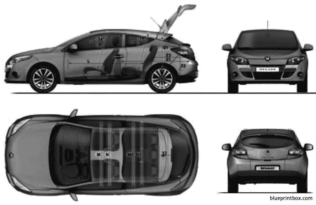 Renault Megane Iii Coupe 2009 - Blueprintbox Com