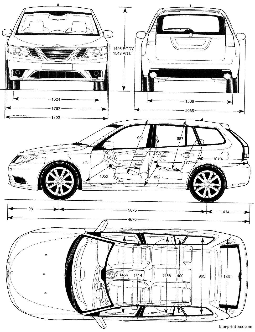 Saab 9 3 3 2008 - Blueprintbox Com