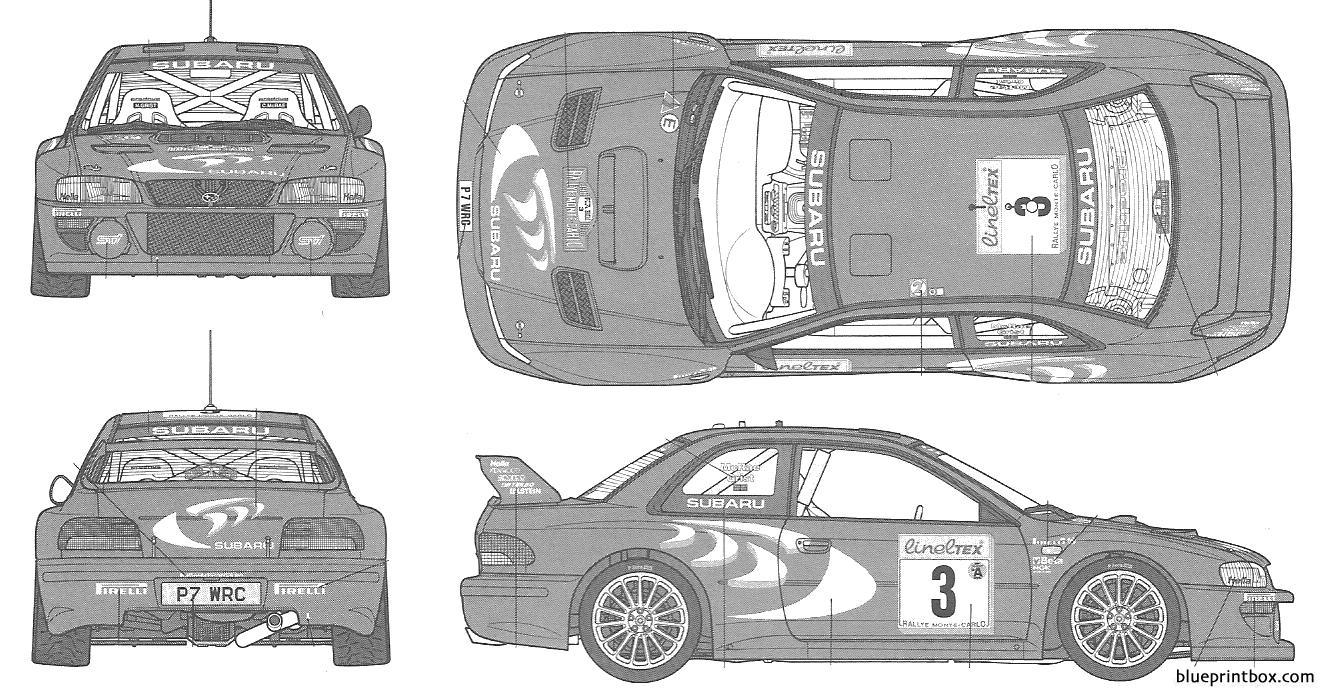 Subaru Impreza Wrc 1998 Rally Monte Carlo