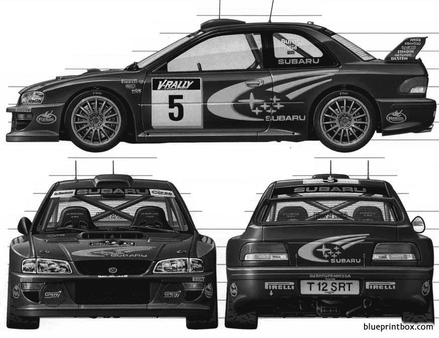 Subaru Impreza Wrc 1999 - Blueprintbox Com