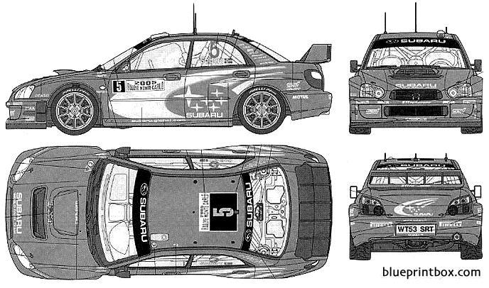 Subaru Impreza Wrc Montecarlo 05 - Blueprintbox Com