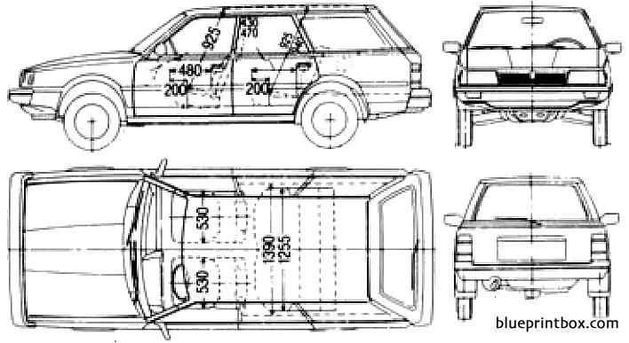 subaru leone wagon 1800 1988 - blueprintbox com