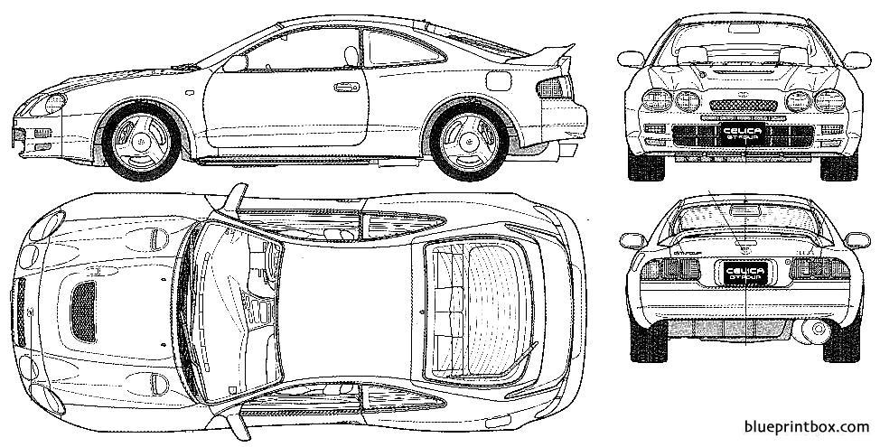 Toyota Celica Gt Four 1996 - Blueprintbox Com