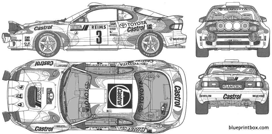 Toyota Celica Gt Four - Blueprintbox Com