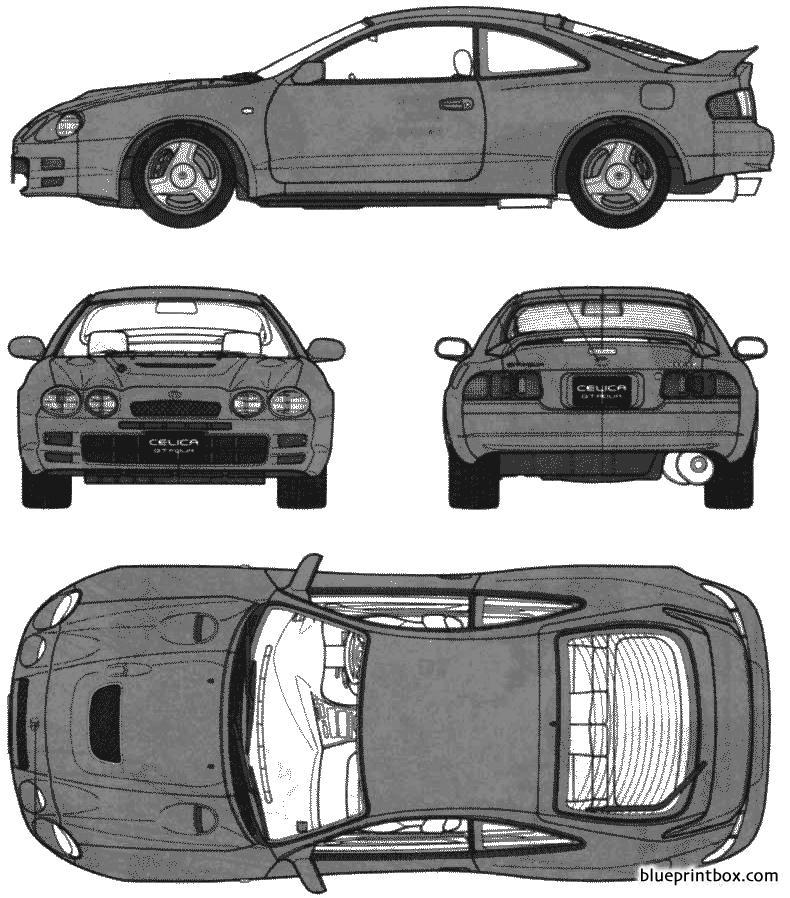 Toyota Celica Gt4 2 - Blueprintbox Com