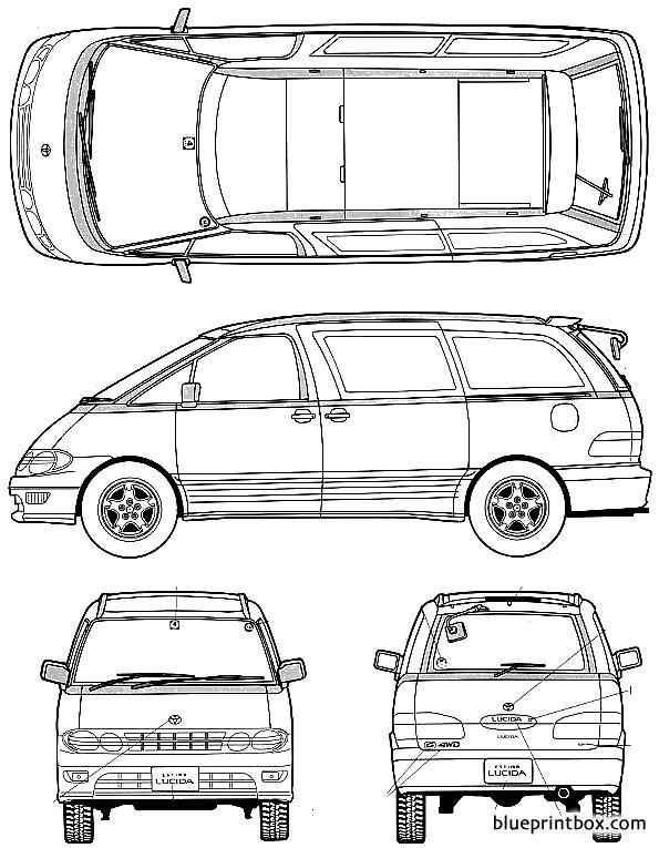 Toyota Estima 1993 - Blueprintbox Com