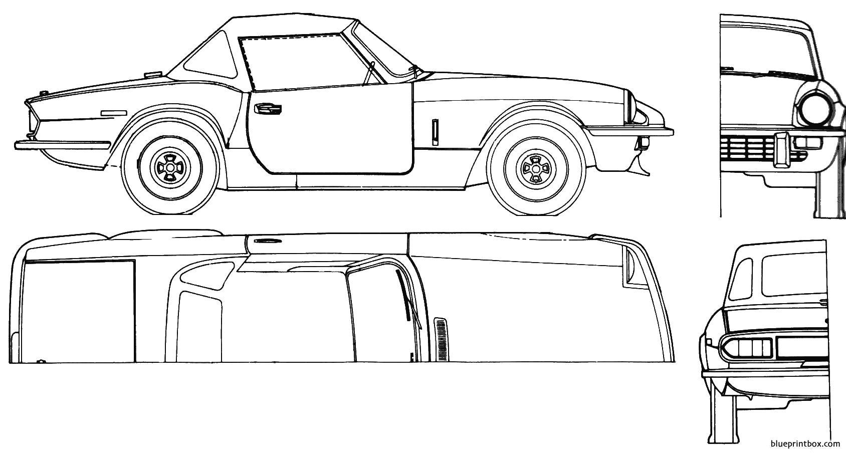 Triumph Spitfire Softtop 1975 - Blueprintbox Com