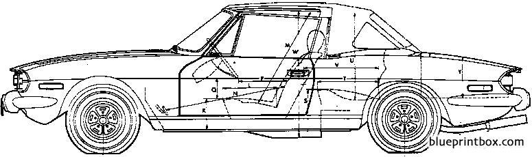 Triumph Stag 1975 - Blueprintbox Com