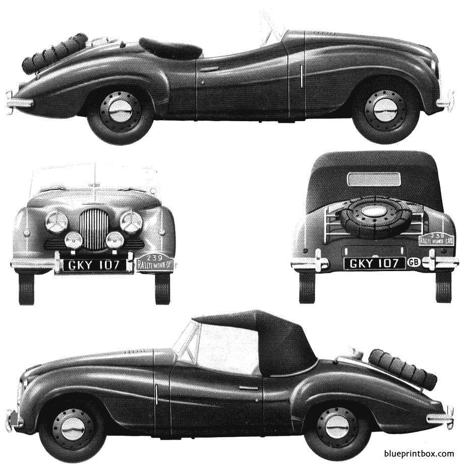 Jowett Jupiter 1951 Monte Carlo - Blueprintbox Com