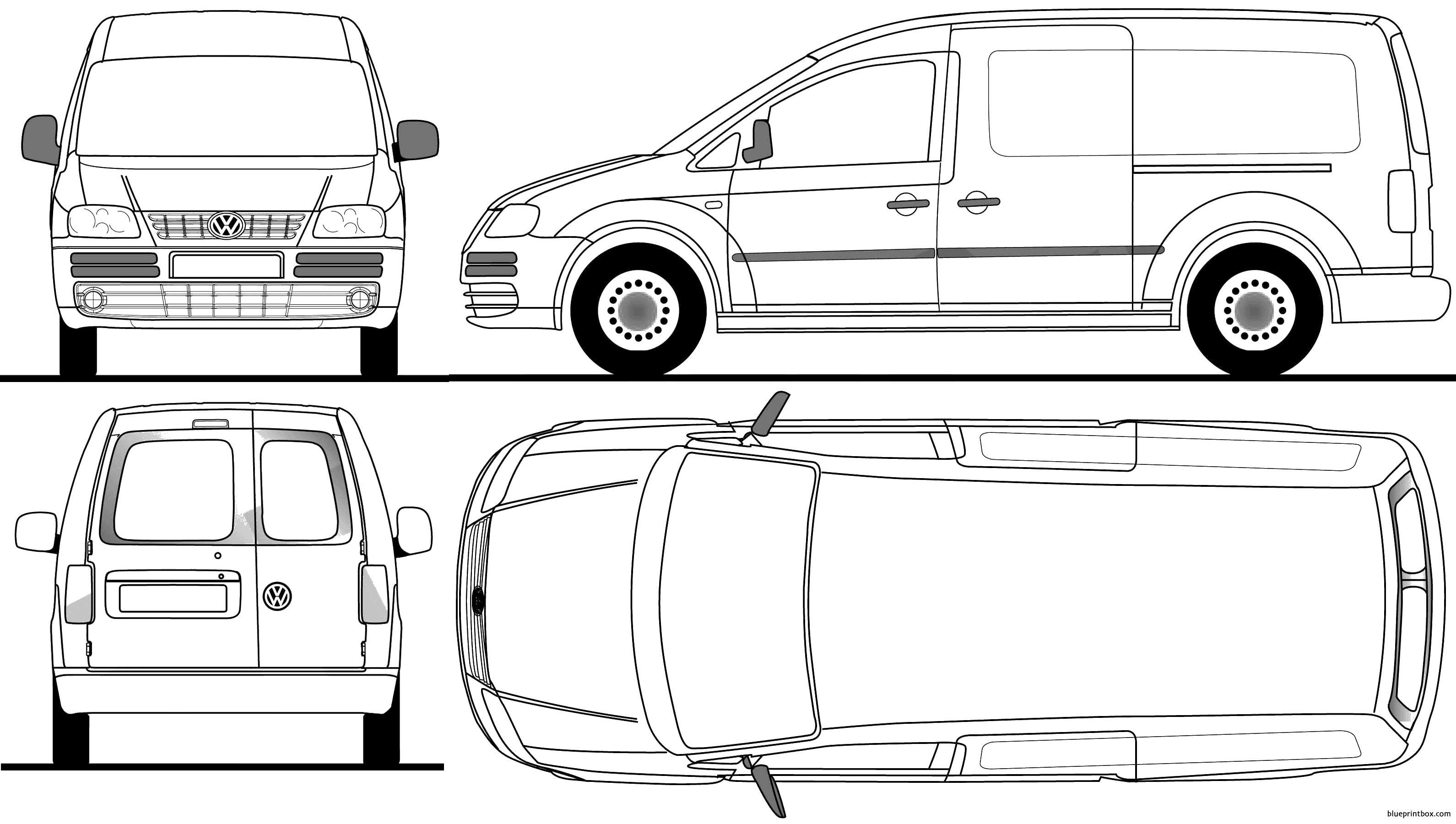 Volkswagen Caddy Lwb 2008 - Blueprintbox Com