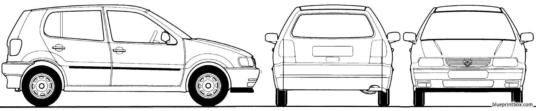 Volkswagen Polo 5 Door 1995 - Blueprintbox Com