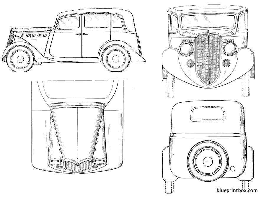 Willys Overland Sedan 1935 - Blueprintbox Com