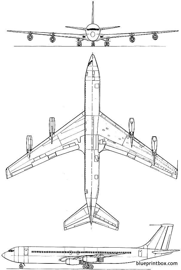 Boeing 707 - Blueprintbox Com
