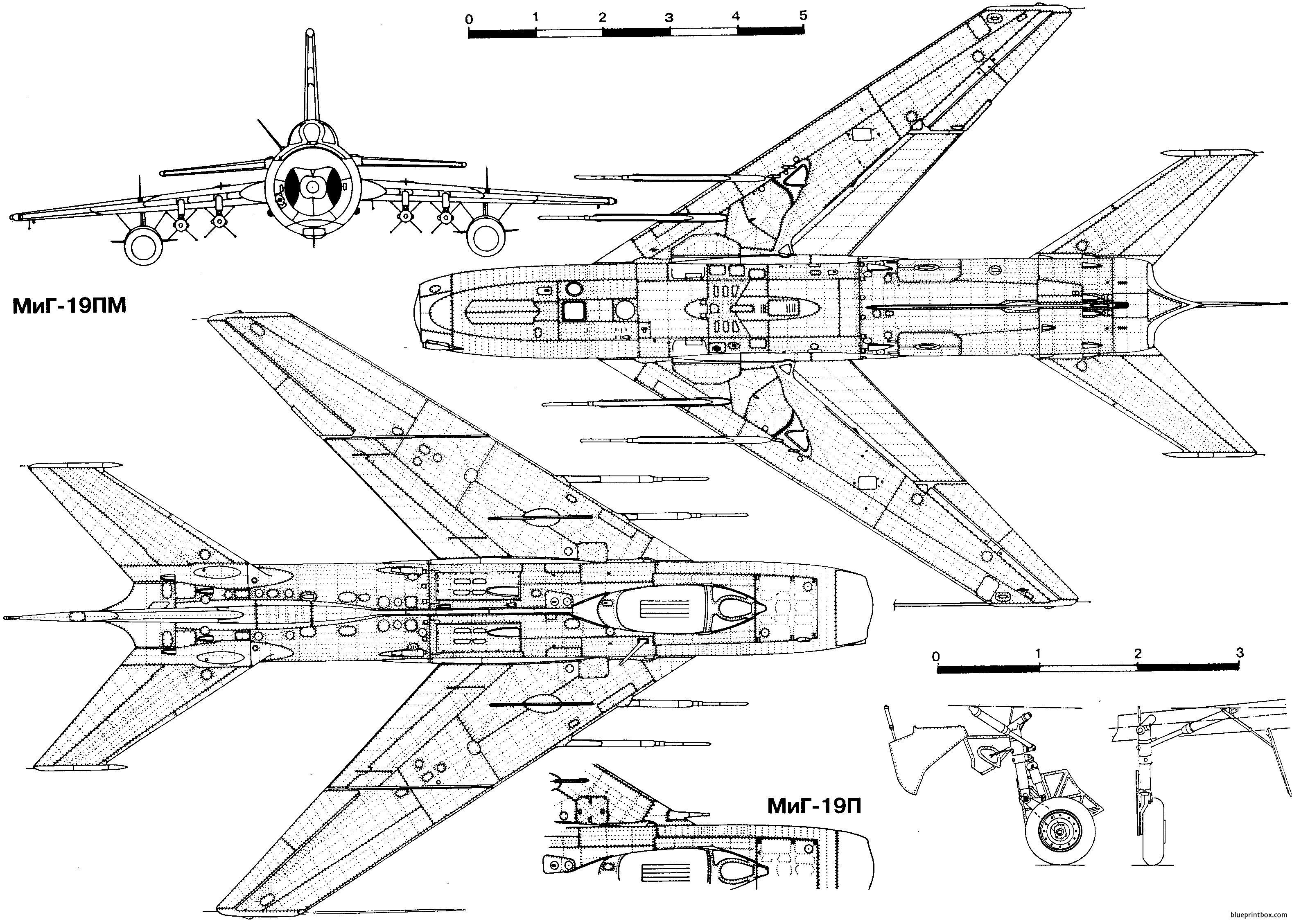 Mikoyan Gurevich Mig 19 2 - Blueprintbox Com