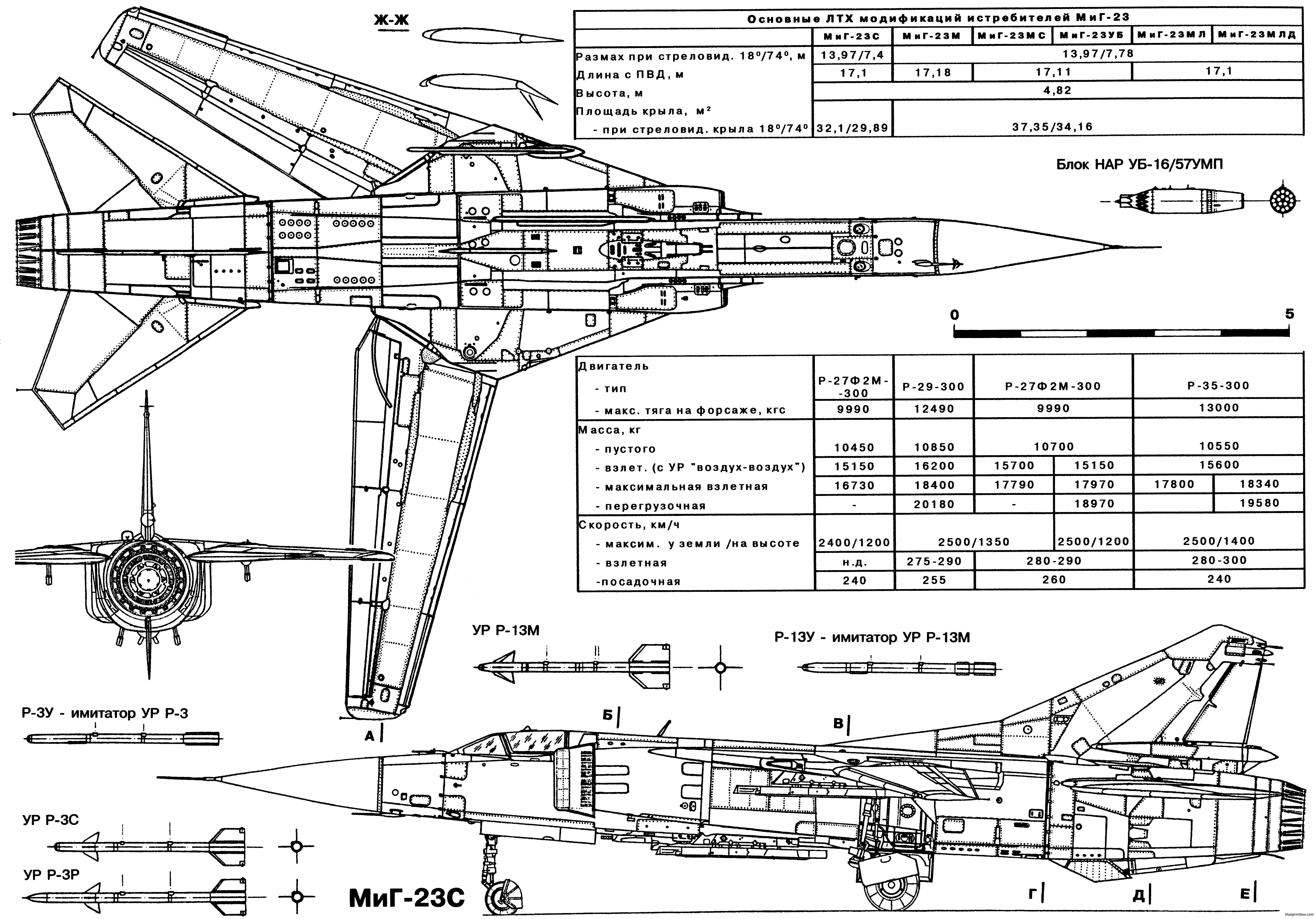 Mikoyan Gurevich Mig 23s 3 - Blueprintbox Com