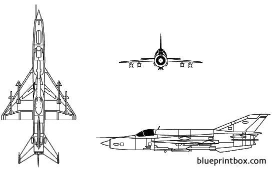Mikoyan Mig 21 Fishbed - Blueprintbox Com