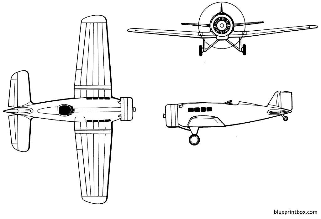 Northrop Alpha - Blueprintbox Com