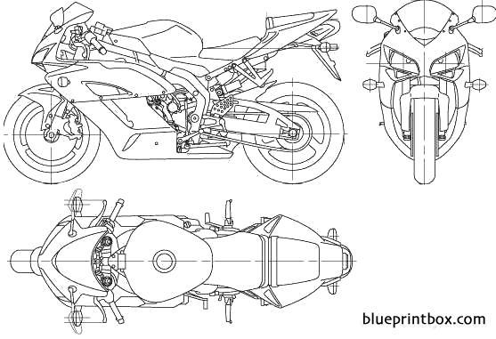 honda cbr1000rr 2006 - blueprintbox com