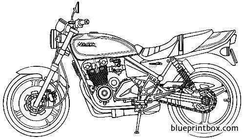 Kawasaki Zephyr X 1996 - Blueprintbox Com