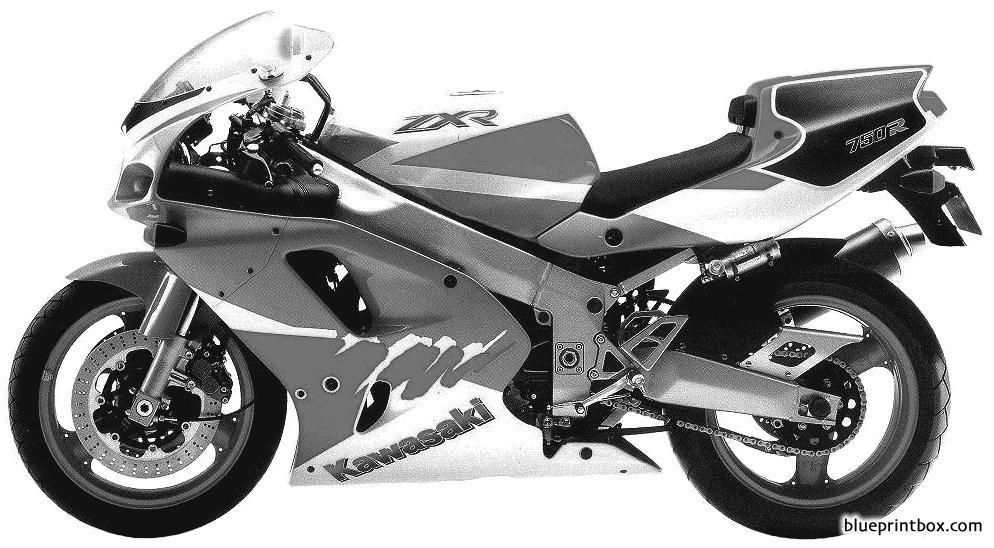 Kawasaki Zxr750r 1993 - Blueprintbox Com