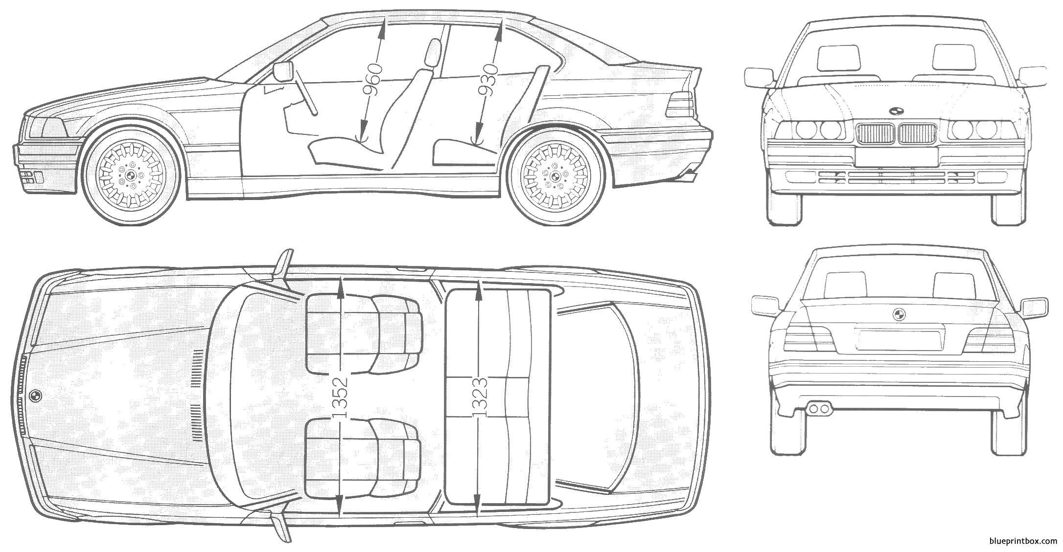 Bmw 3 Coupe E36 - Blueprintbox Com