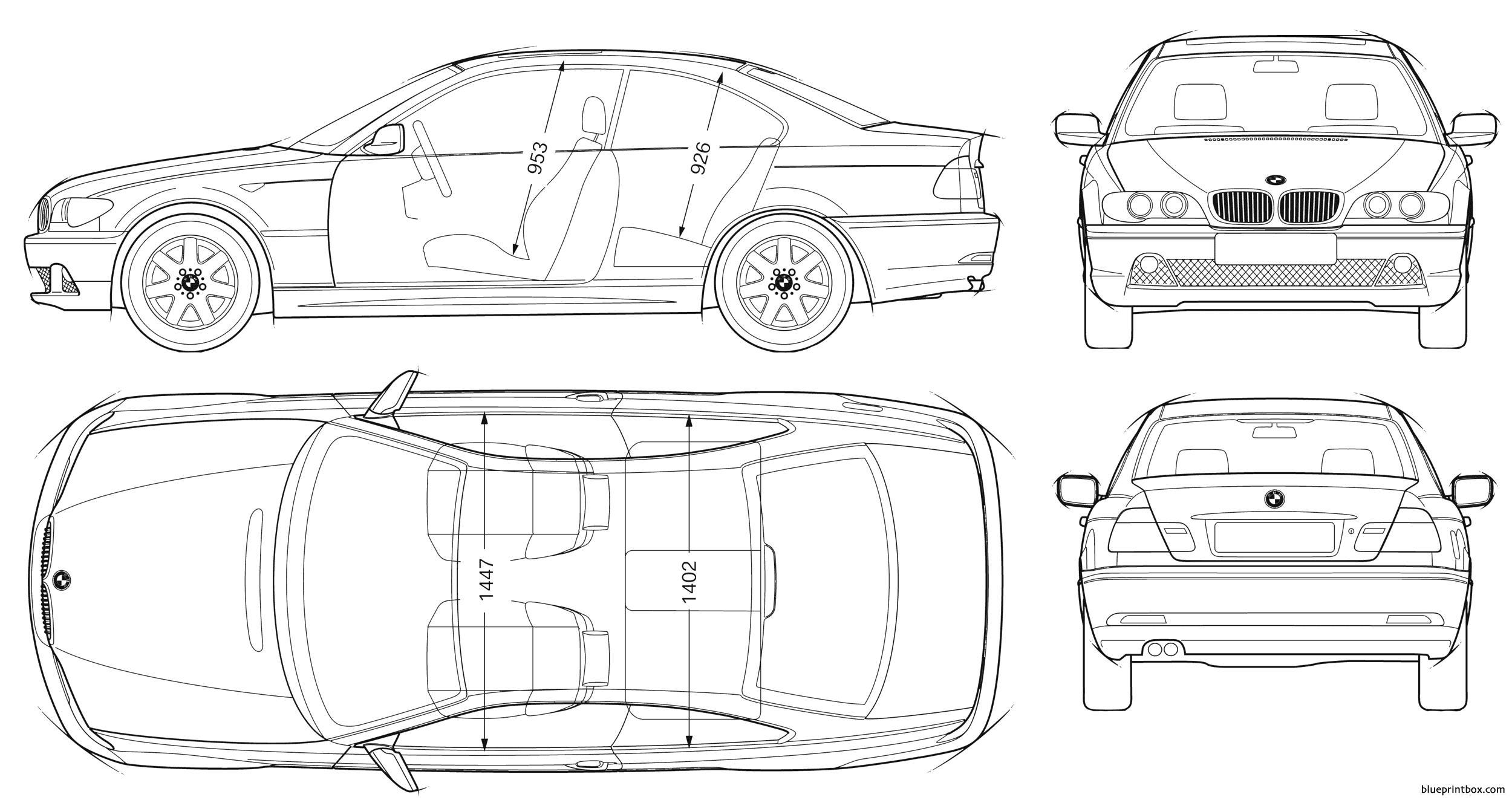 Bmw 3 Coupe E46 - Blueprintbox Com