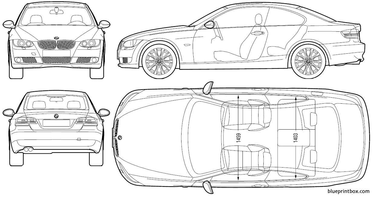 Bmw 3 Series Coupe 2006 - Blueprintbox Com