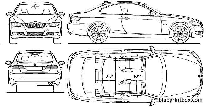 Bmw 3 Series Coupe 2009 2 - Blueprintbox Com