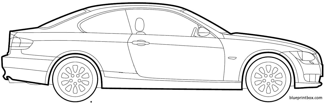 Bmw 3 Series Coupe 2009 - Blueprintbox Com