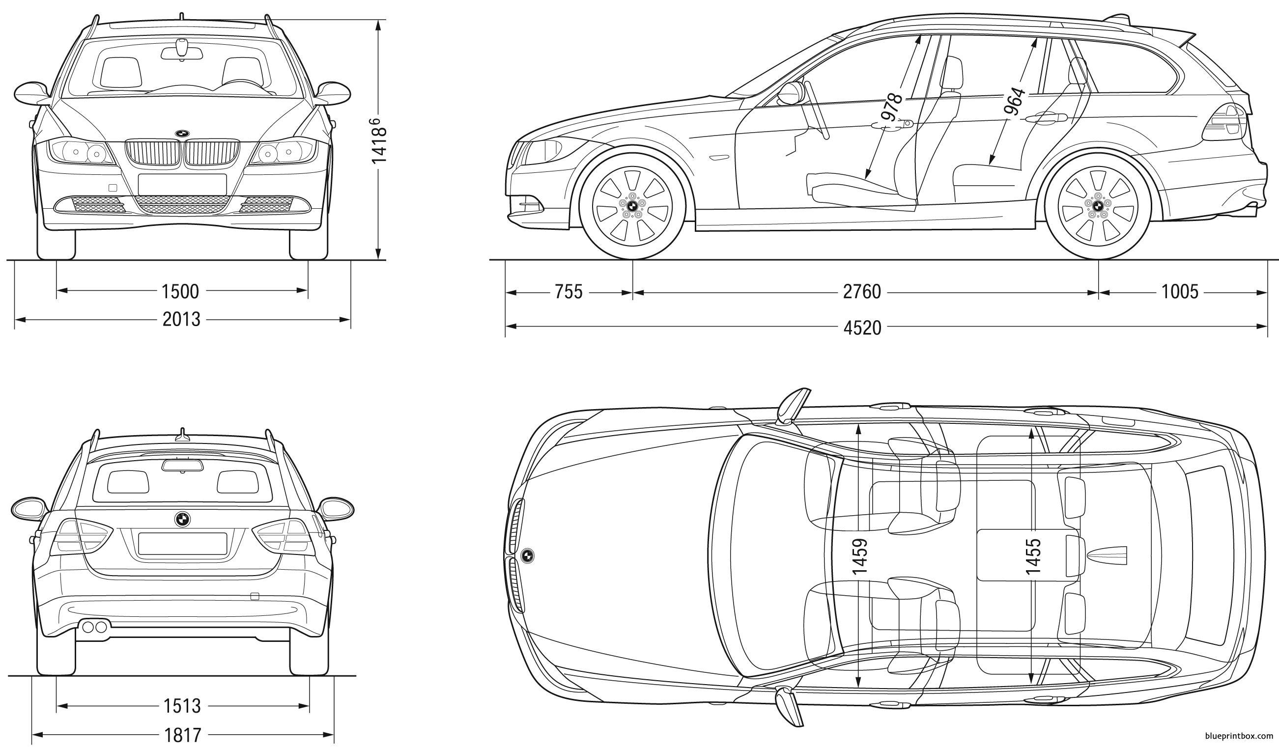 Bmw 3 Touring 2007 E91 - Blueprintbox Com