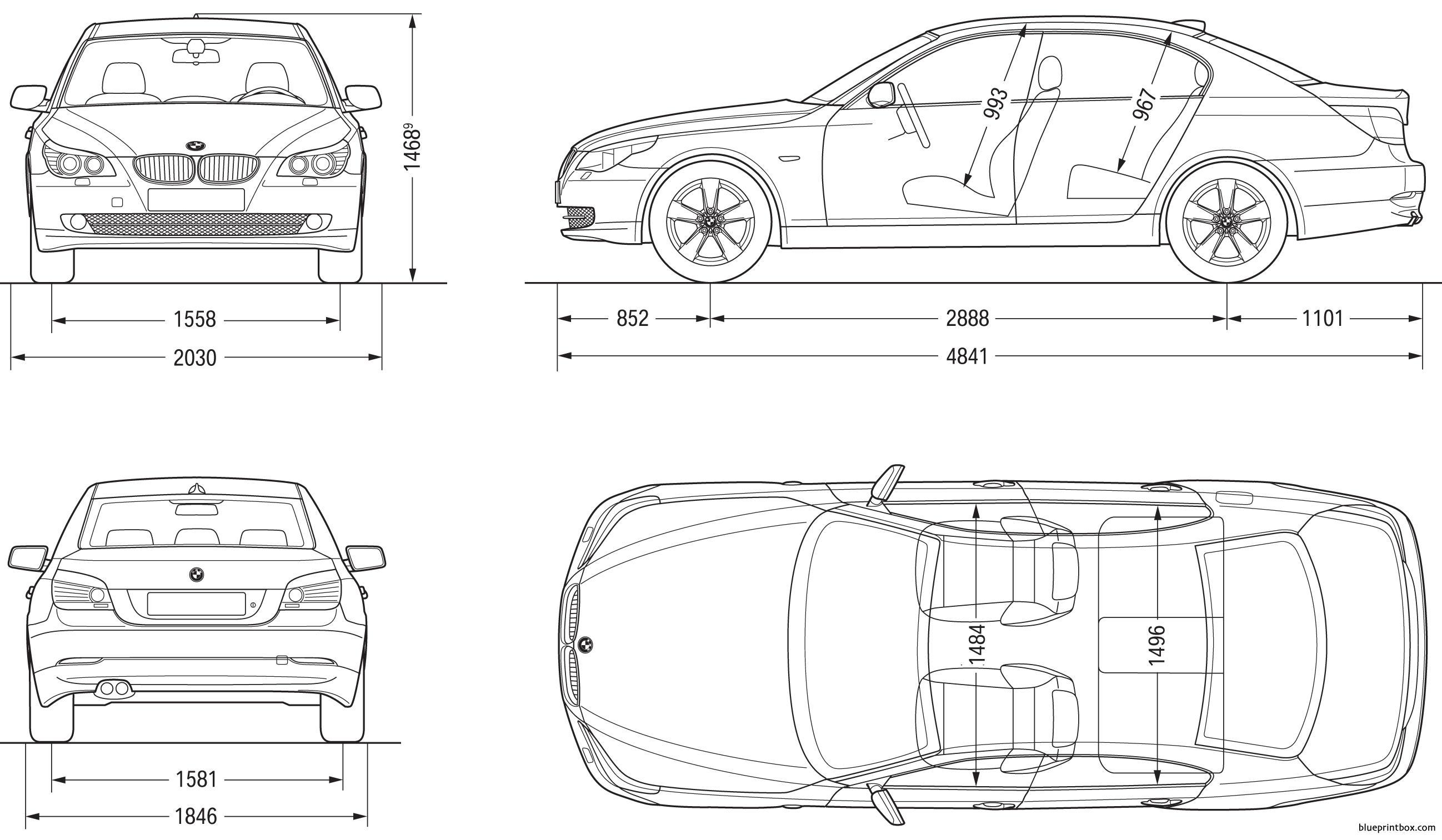 Bmw 5 Sedan 2007 E60 - Blueprintbox Com