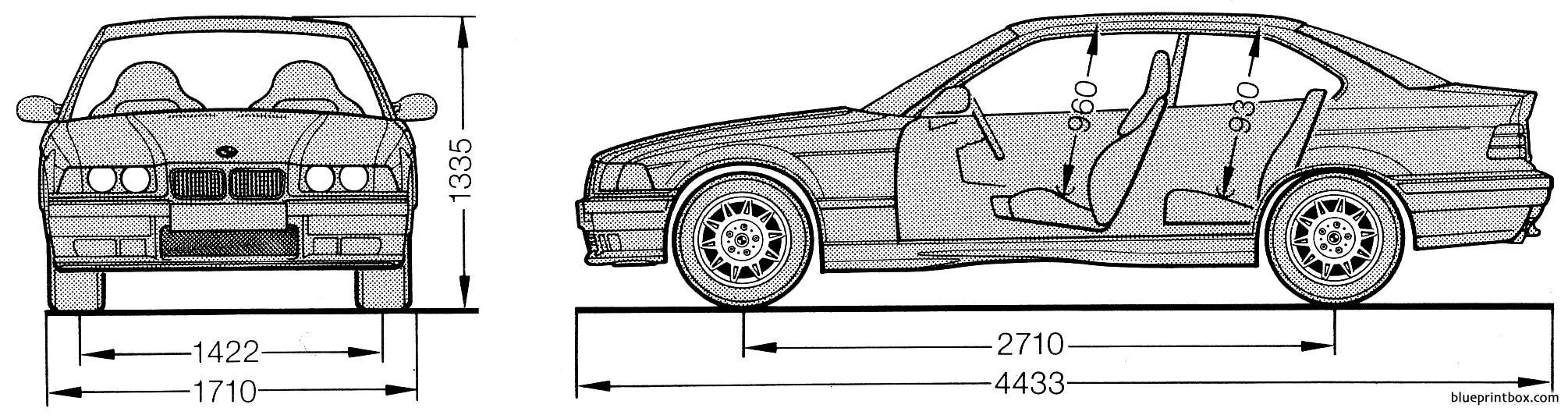 Bmw M3 Coupe E36 2 - Blueprintbox Com