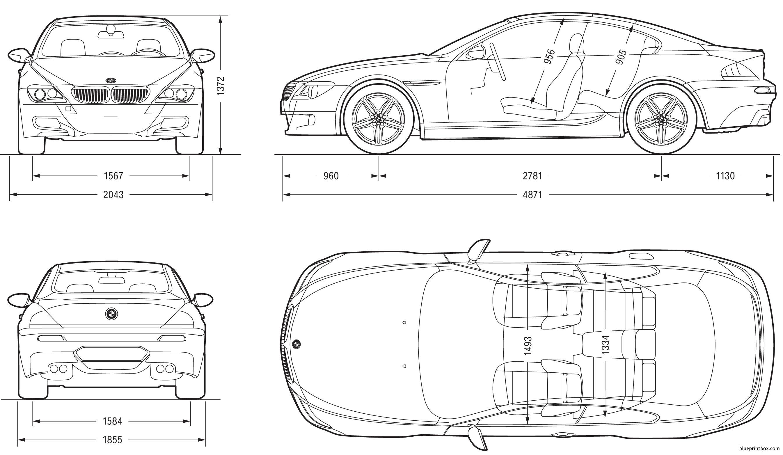 Bmw M6 Coupe 2007 E63 - Blueprintbox Com